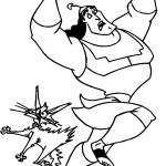 The Emperor New Groove Pressing The Cat Tail Disney Coloring Pages