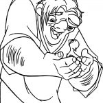 The Hunchback of Notre Dame Duck Coloring Page