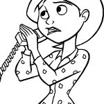 The Incredibles Mom Telephone Coloring Page