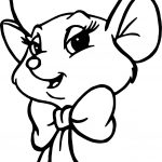 The Rescuers Biancah Face Coloring Pages