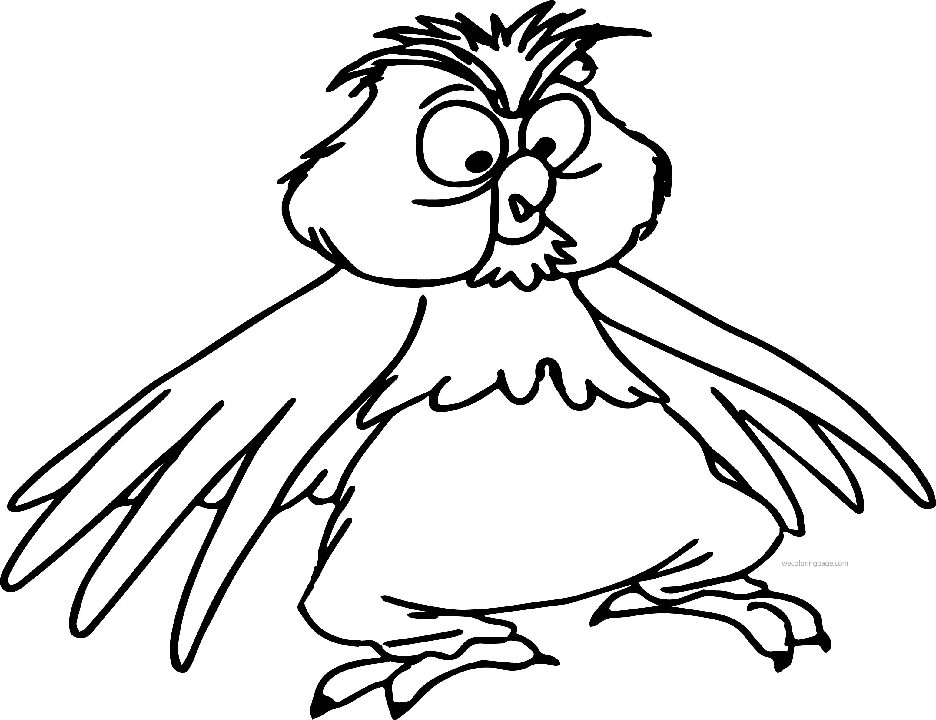 the sword in the stone archimedes owl cartoon coloring pages