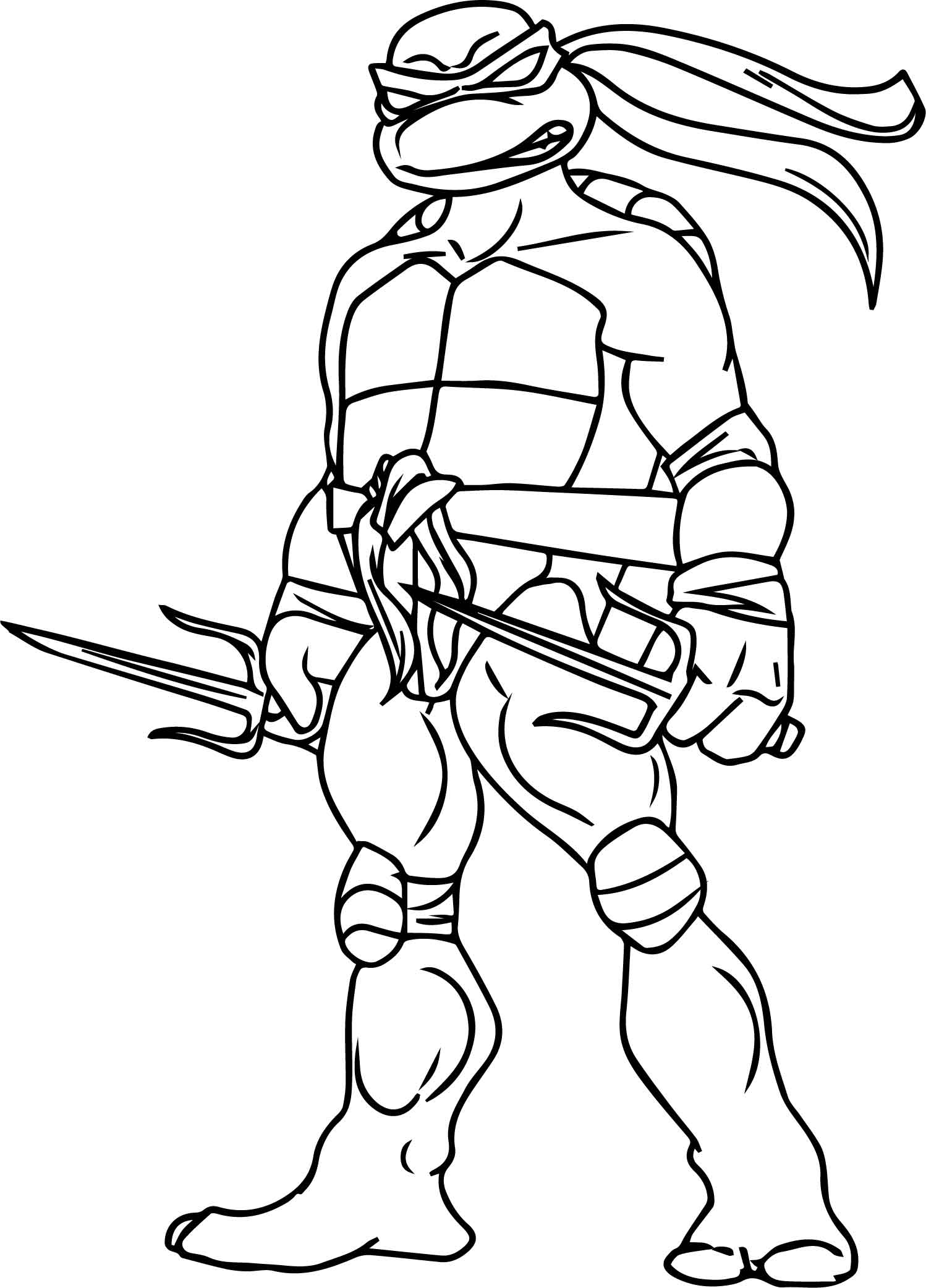 The Teenage Mutant Ninja Turtles Blade Coloring Page