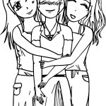 Three Best Friends Coloring Page