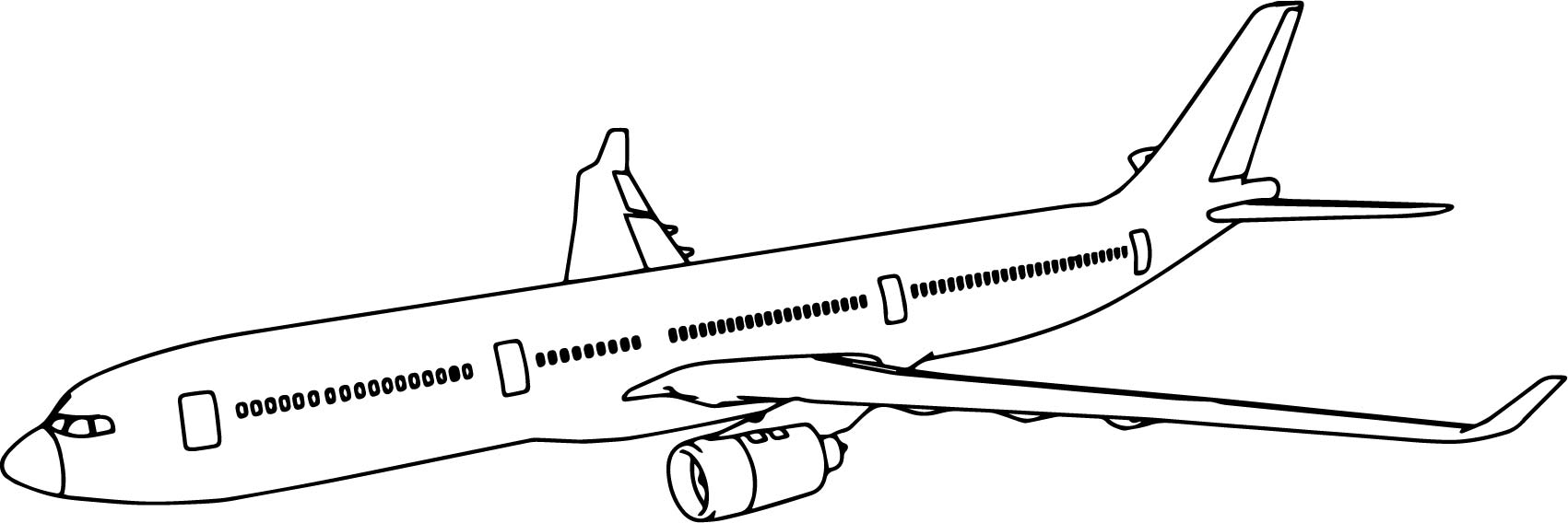 thy airbus a330 plane coloring page wecoloringpage