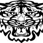 Tiger Wild Head Coloring Page