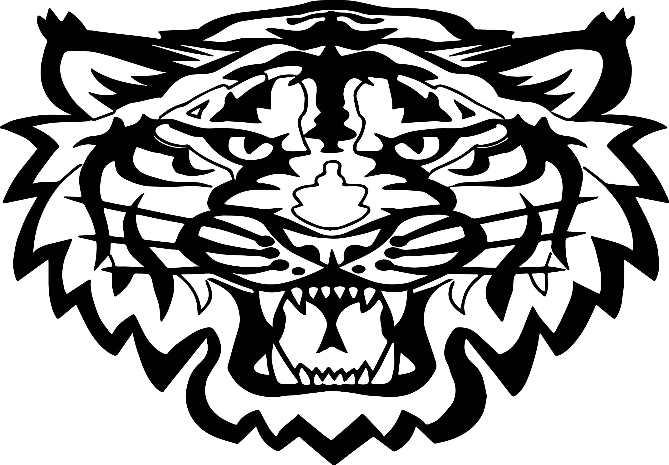 Tiger Wild Head Coloring Page