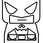 Tiny Batman Small Coloring Page