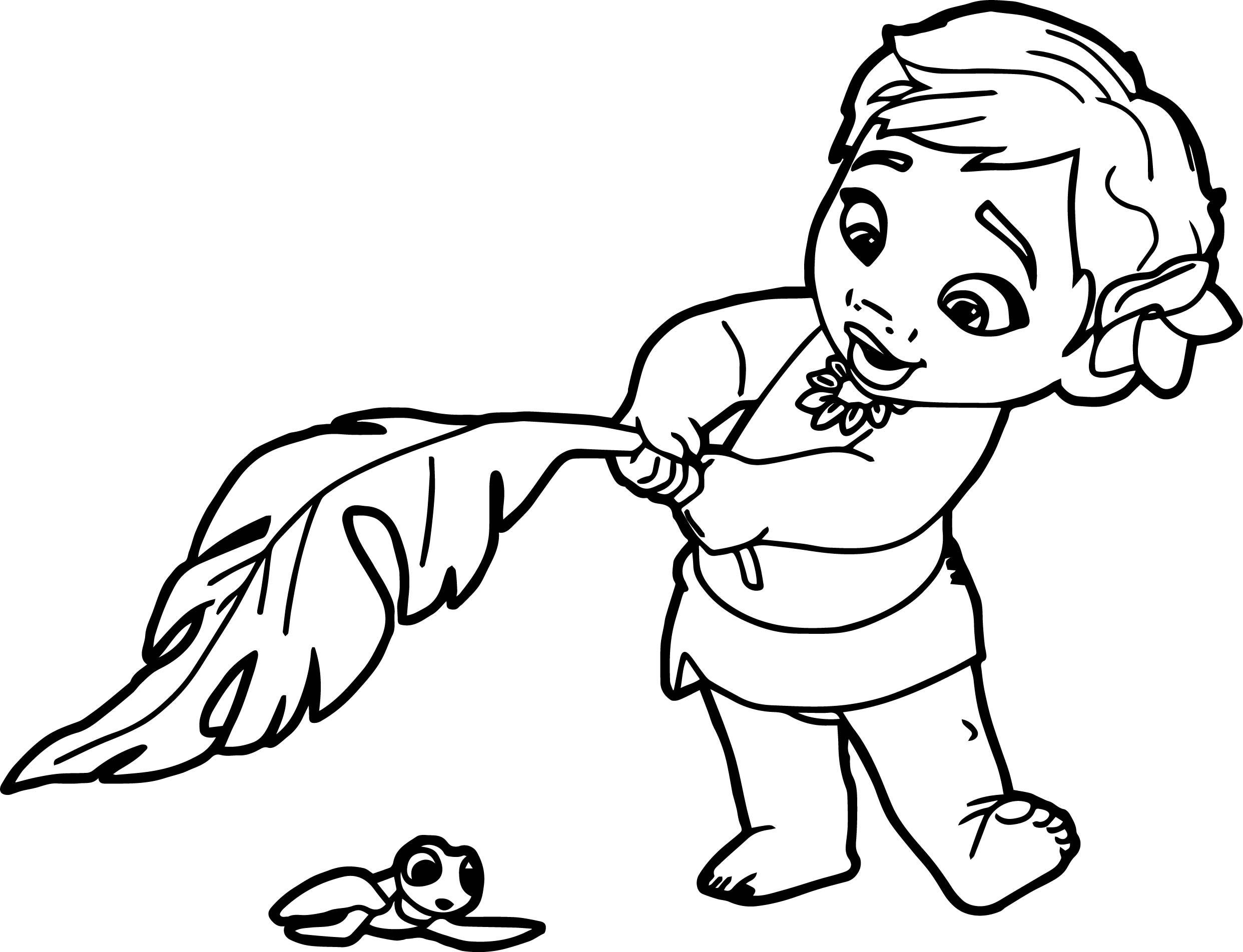 Toddler Moana Coloring Page