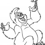 Trek Monkey And Butterfly Coloring Page