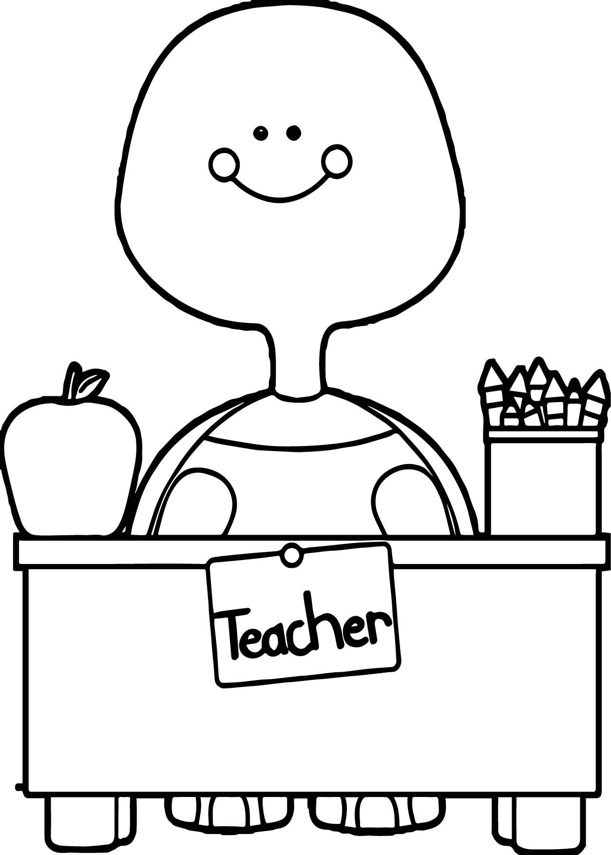 Teacher Apple Coloring Pages : Teacher apple page coloring pages
