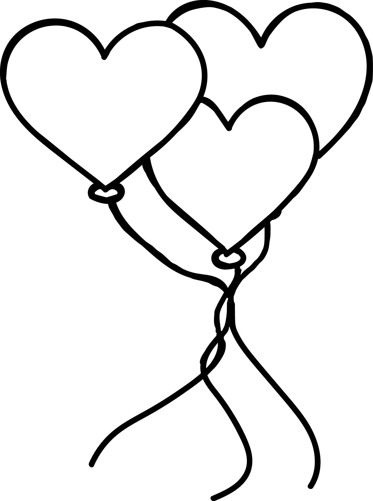 Valentine's Day Balloons Coloring Page