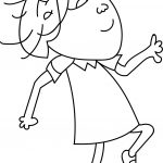 Walking Charlie And Lola Girl Coloring Page