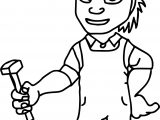 Worker Carpenter Coloring Page