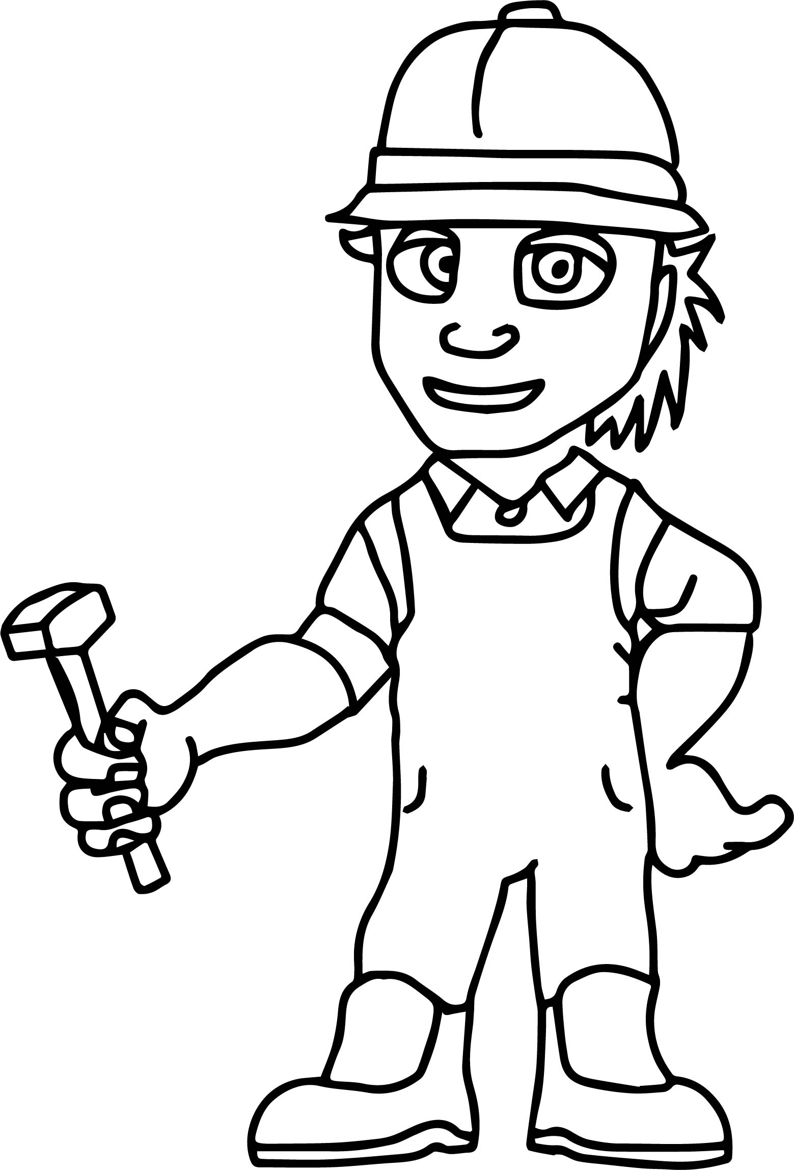 worker carpenter coloring page wecoloringpagecom