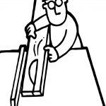 Working Carpenter Coloring Page
