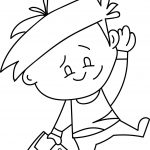 Wyley Boy Character Coloring Page