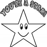 You A Star Happy Star Coloring Page
