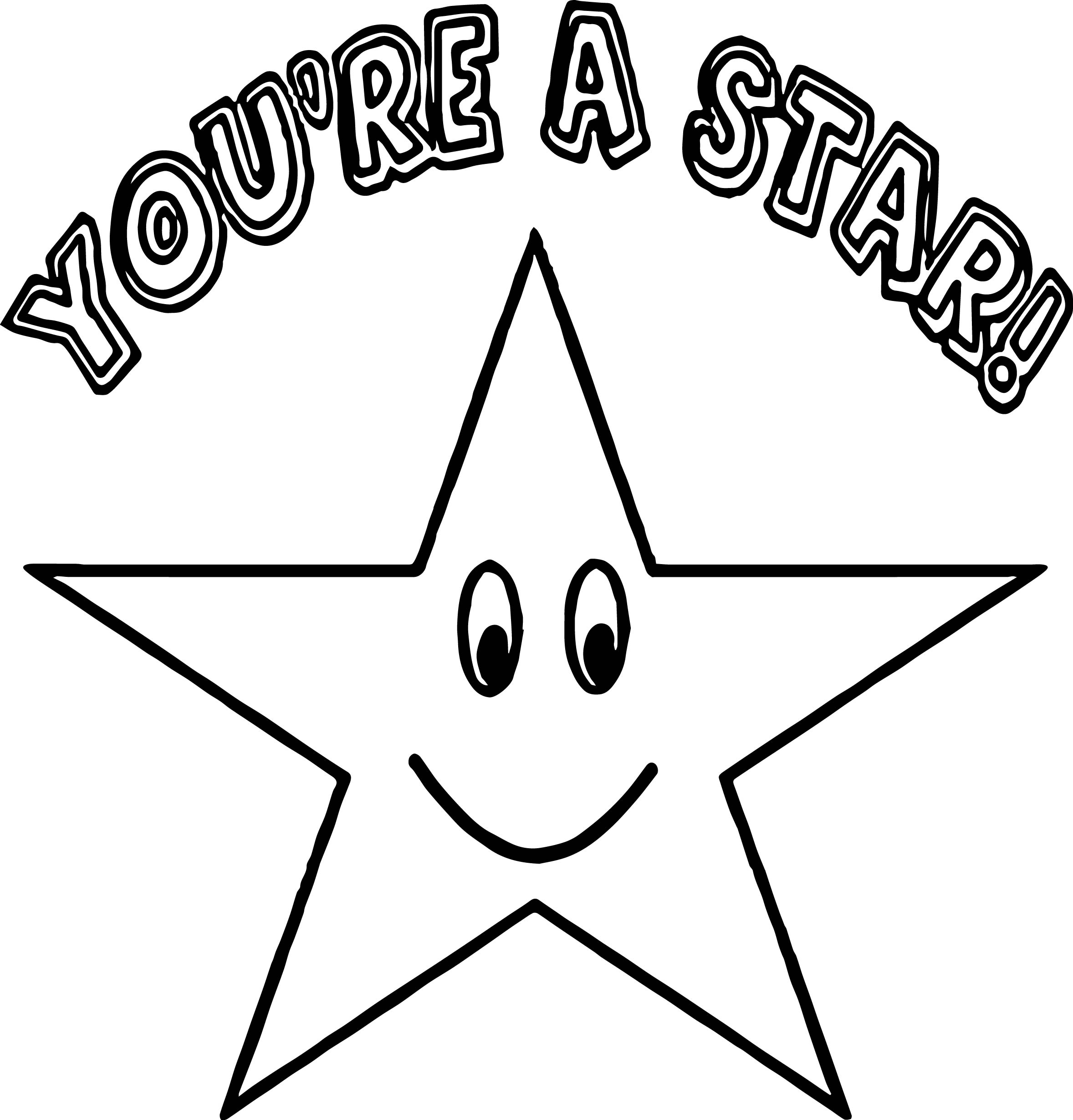 You A Star Happy Star Coloring Page Wecoloringpage