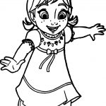 Young Anna Coloring Page