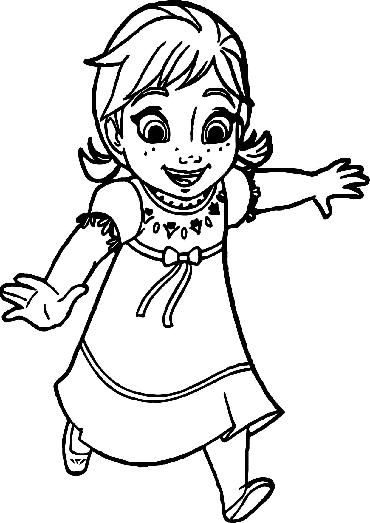 Anna Coloring Pages Delectable Young Anna Coloring Page  Wecoloringpage Decorating Inspiration