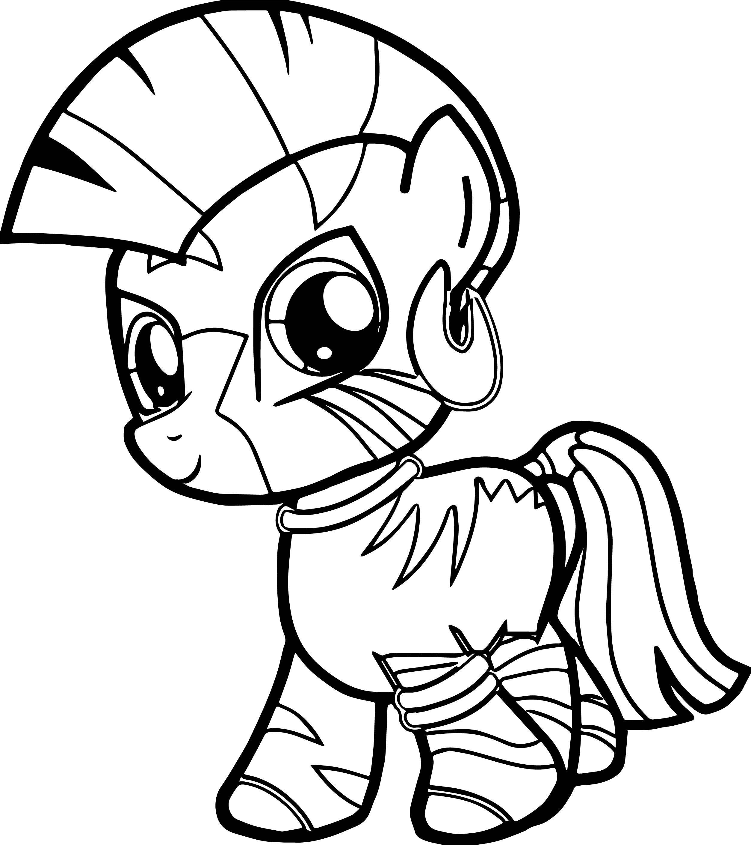 horse color pages - zecora filly very cute baby horse coloring page