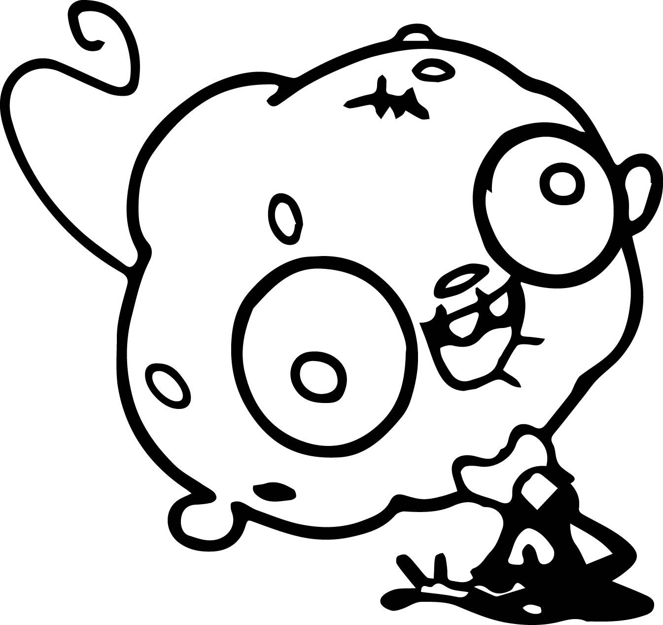Zombie Moshlings Coloring Page