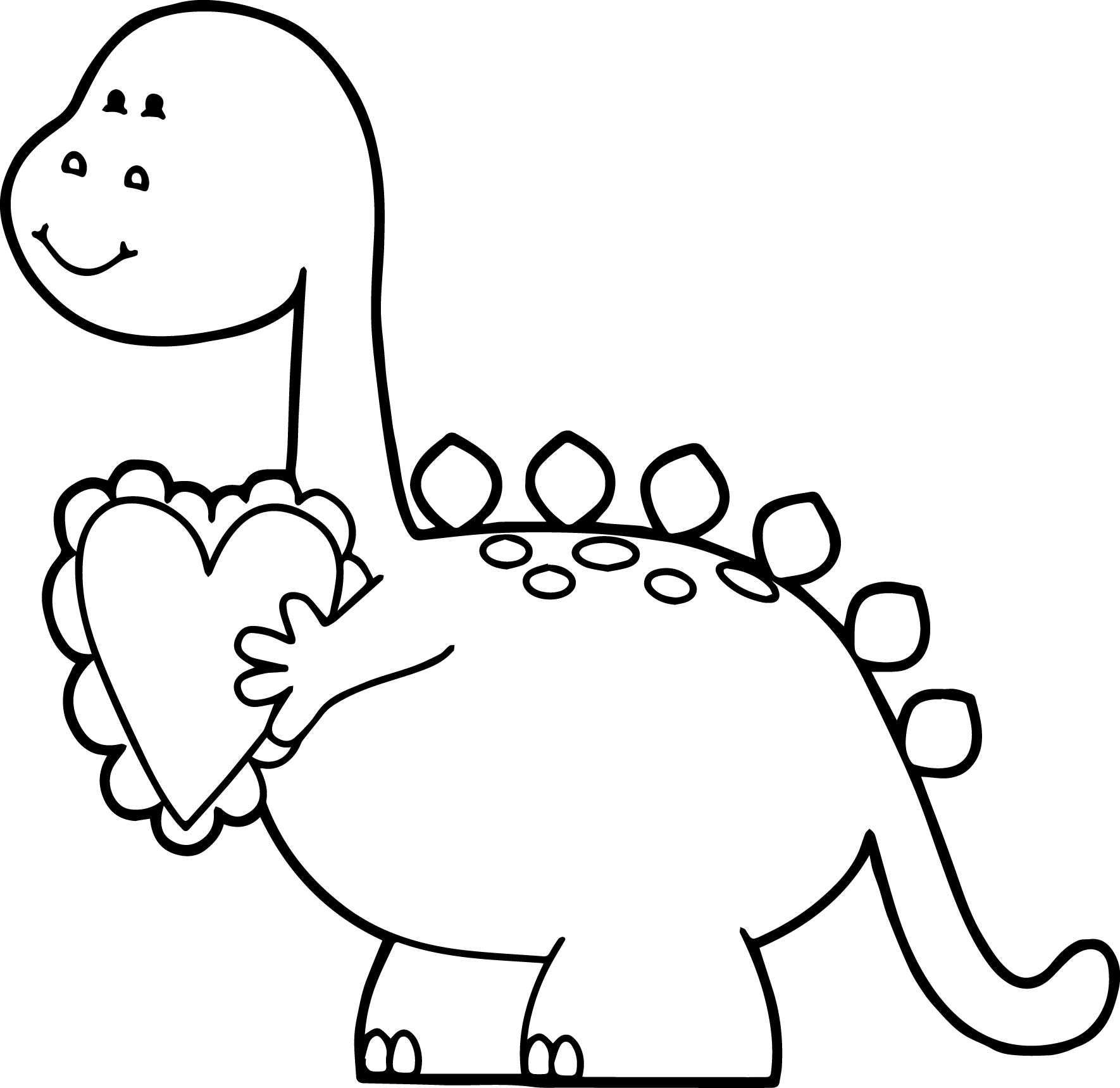 dino valentine coloring pages - photo#10
