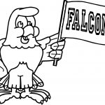 100 Days Of School Falcons Bird Coloring Page
