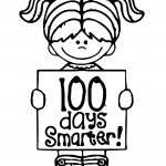 100 Days Of School Girl Coloring Pages