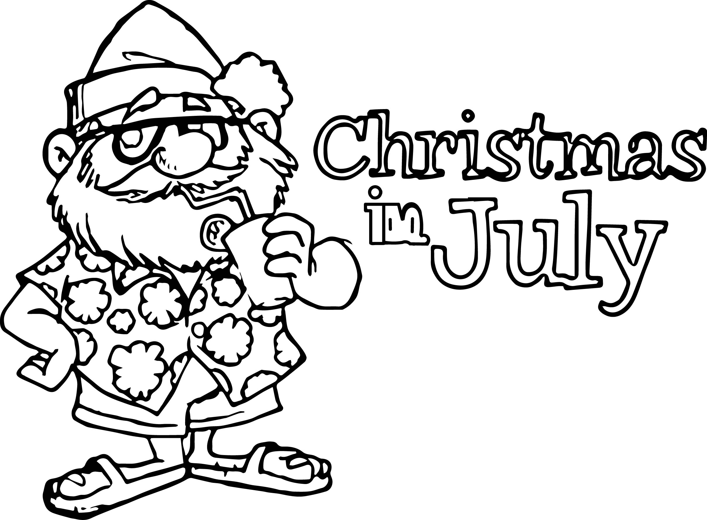 4th of july christmas in july coloring page wecoloringpage