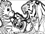Abc Animal Zebra Lion Coloring Page