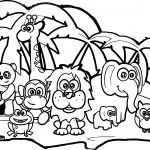 Abc Forest Animal Coloring Page