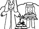 Abraham And Sarah Fire Coloring Page