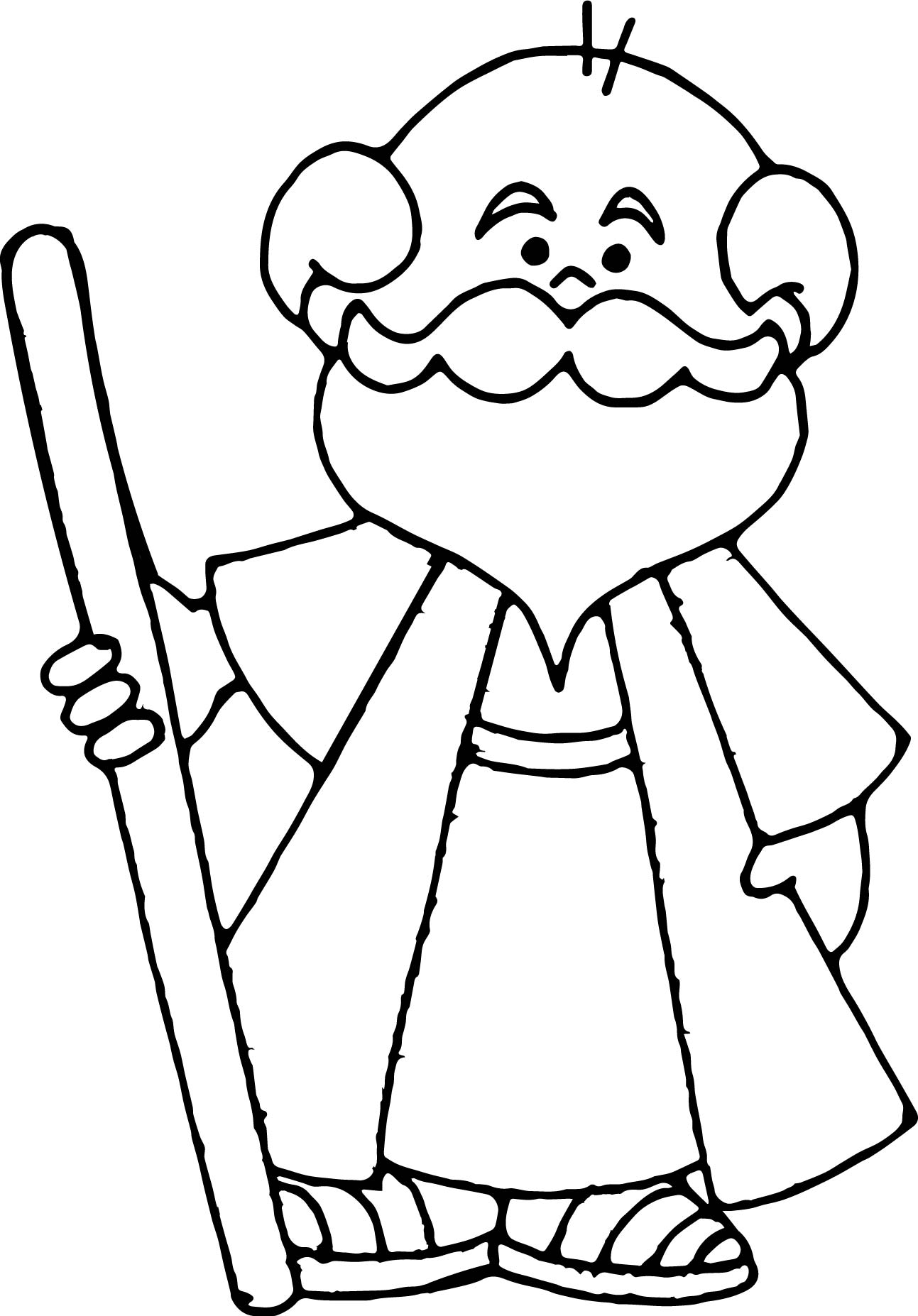 Abraham And Sarah Old Man Coloring Page