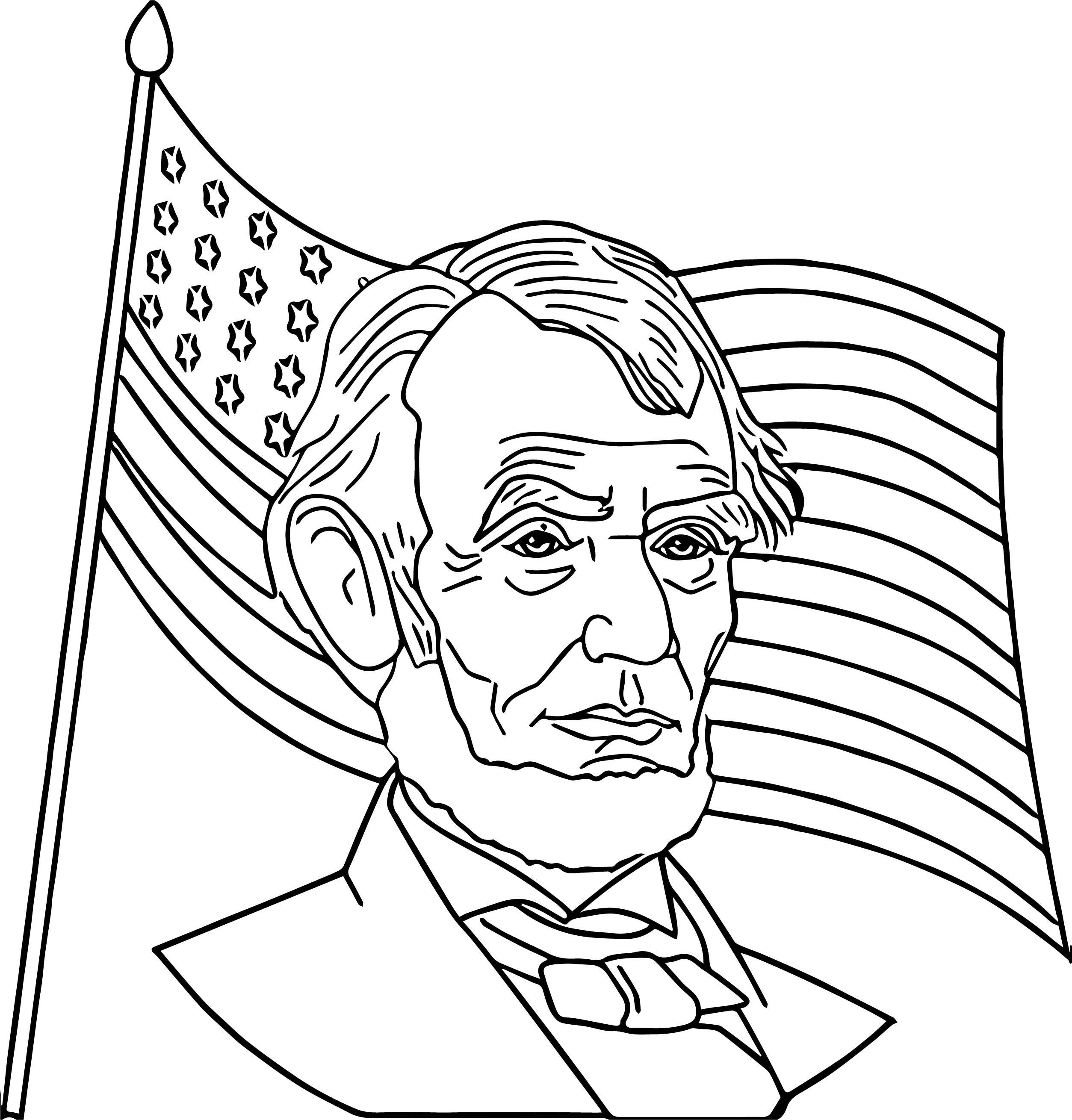 abraham lincoln log cabin coloring pages - photo #24