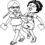 Activity Girls Coloring Page