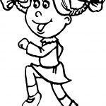 Activity Jogging Student Girl Coloring Page