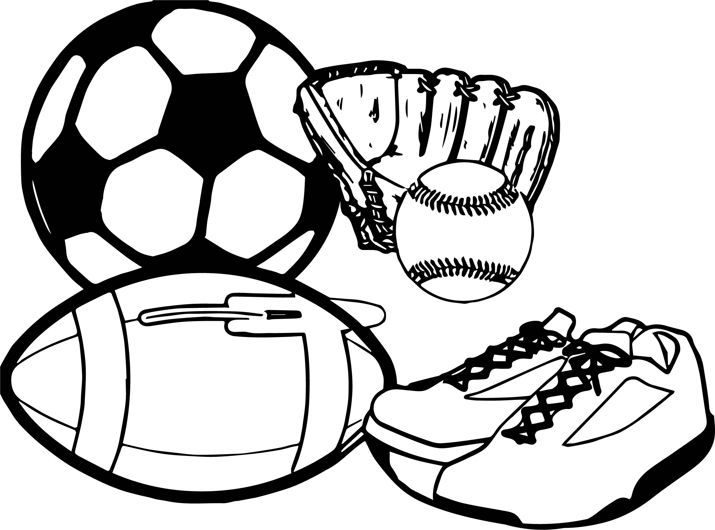 Activity Sport Coloring Page | Wecoloringpage