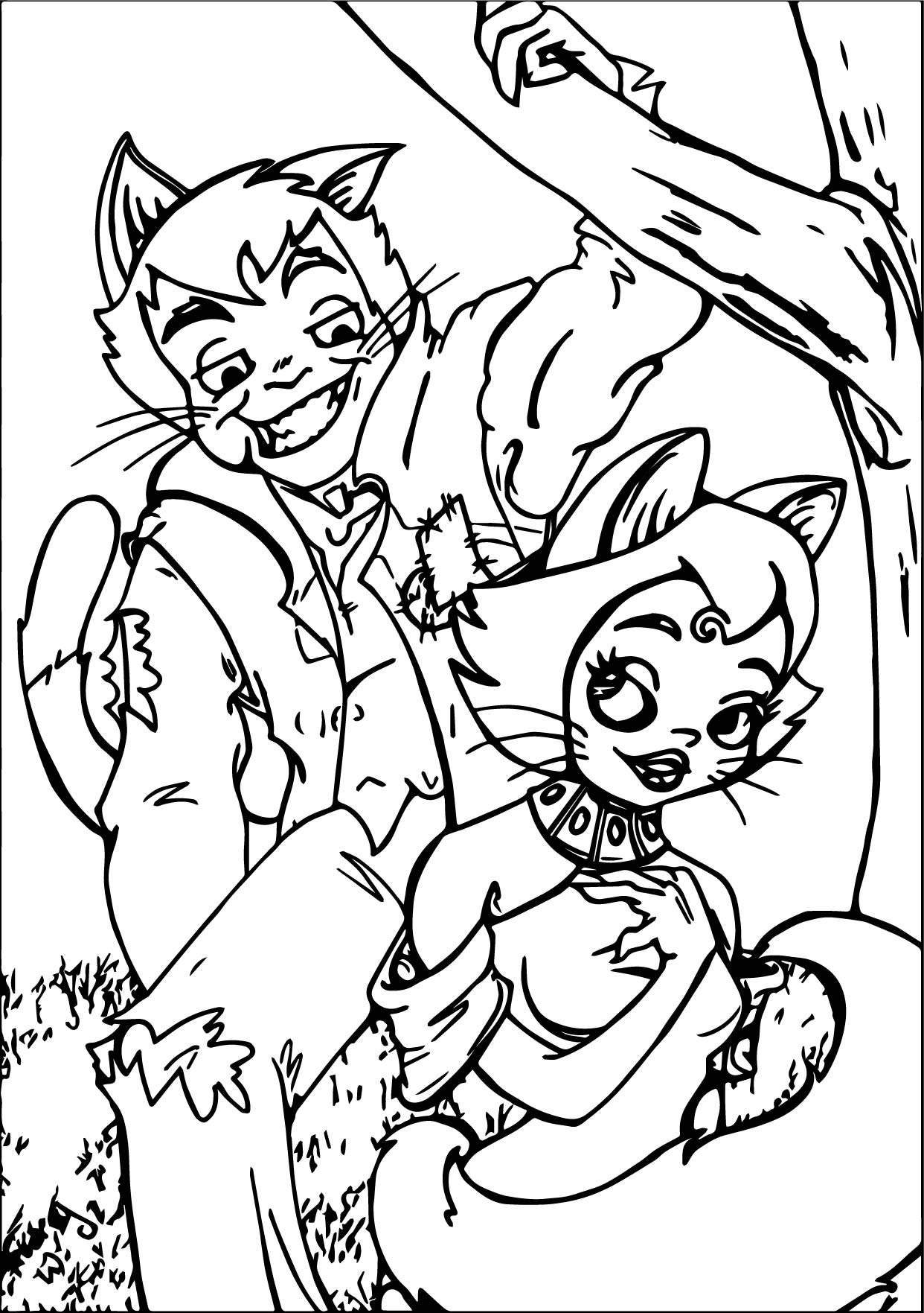 Adult Disney The Aristocats Coloring Page