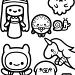 Adventure Time Chibi Coloring Page