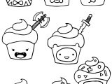 Adventure Time Cupcake Coloring Pages
