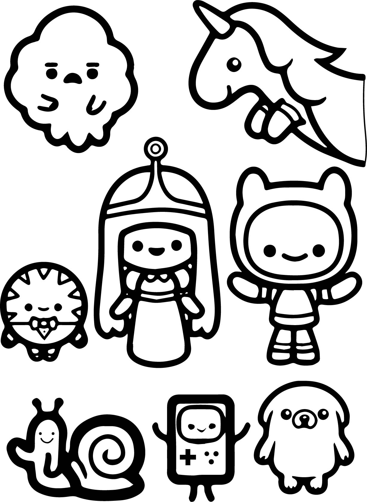 Adventure Time Finn And Jack Child Coloring Page Wecoloringpage