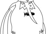 Adventure Time Snow King Coloring Page