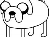 Adventure Time Television Cartoon Jack Coloring Page