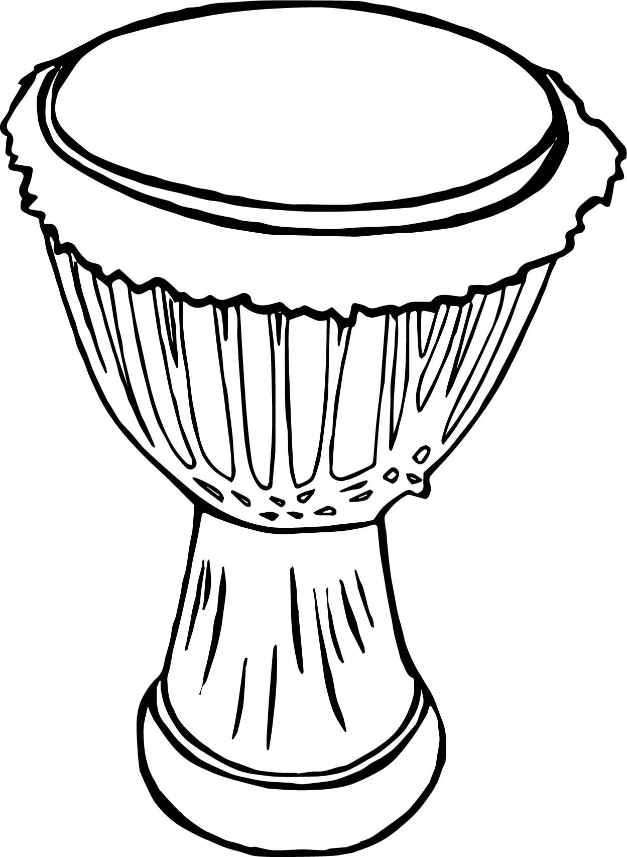 African Drum Coloring Page