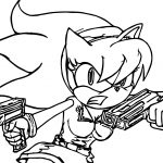 Agent Amy Rose Coloring Page