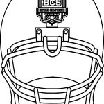 Alabama Mini Helmet Front Coloring Page