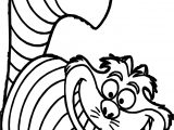 Alice In The Wonderland Cat Coloring Page