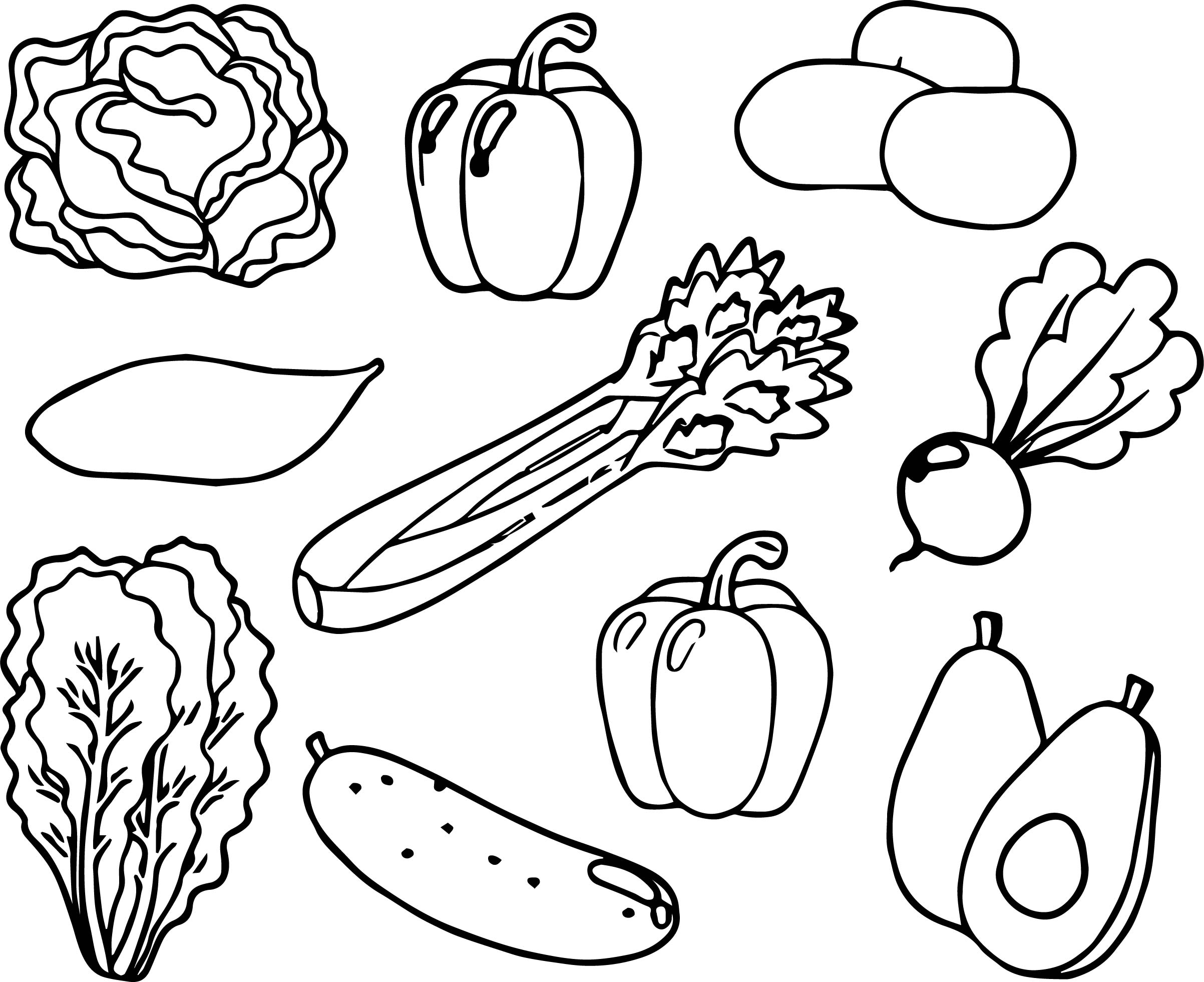 All Vegetable Coloring Page