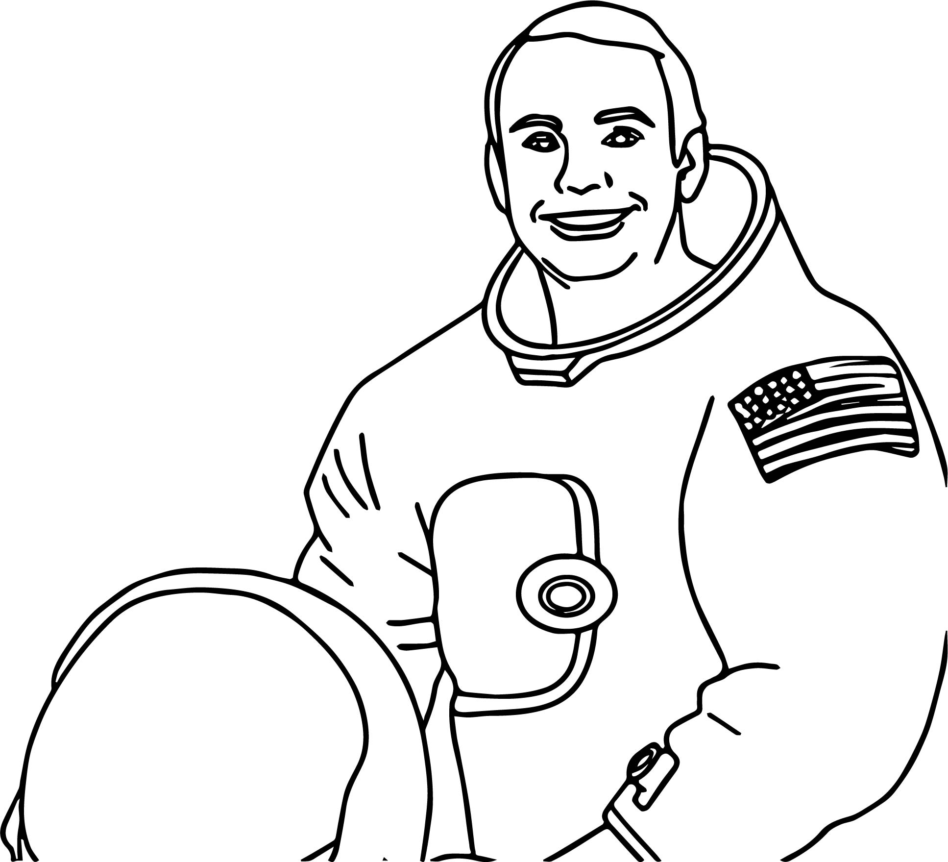 American Astronaut Coloring Page